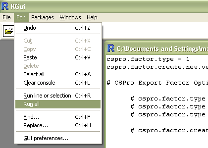 Load Exported Data Into R - CSPro Export Help